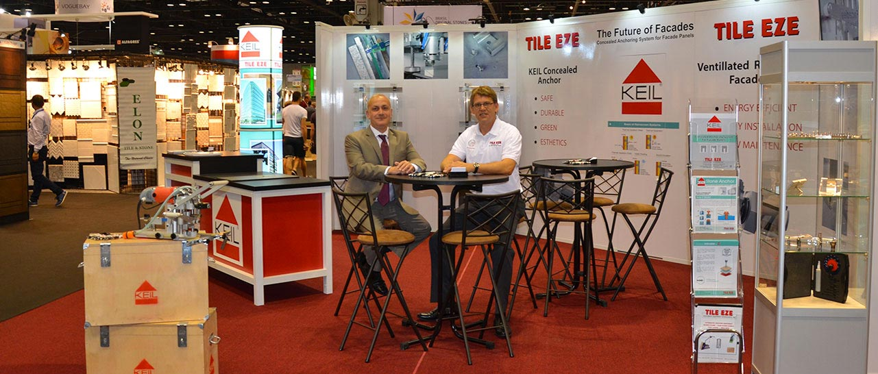 Niels and Partner Abi at a Shower Repair and Remodeling Tradeshow